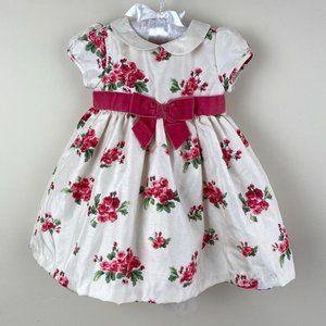 Gymboree Girls Floral Duppioni Dress 3-6 Months
